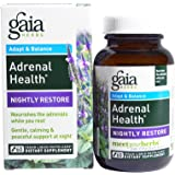 Gaia Herbs, Adrenal Health, Nightly Restore, 60 Vegan Liquid Phyto-Caps - 2pc