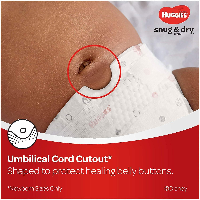Huggies Snug & Dry Baby Diapers, Size Newborn, 132 Ct