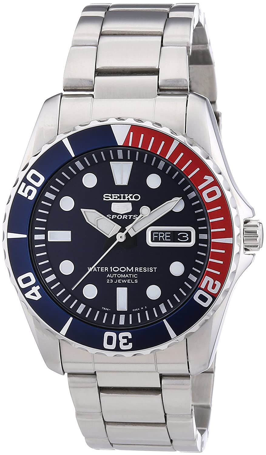 Amazon Seiko 5 Blue Dial Stainless Steel Automatic Mens Watch SNZF15 Watches
