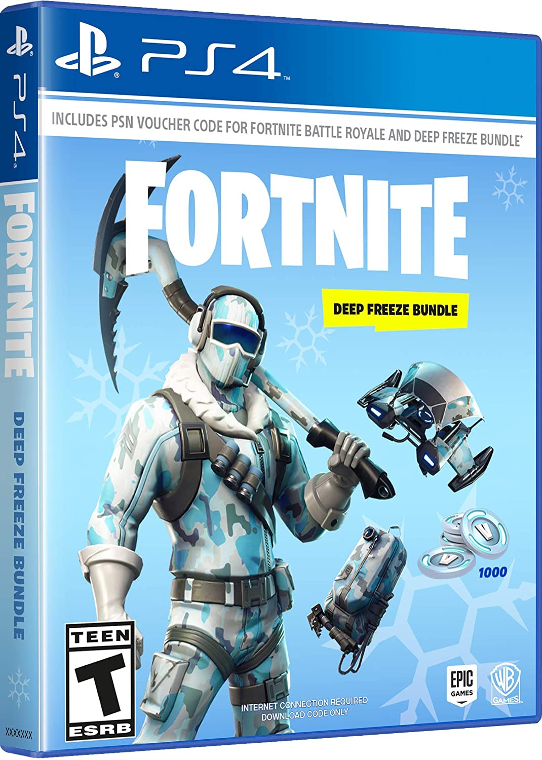 Amazon com: Warner Bros Fortnite: Deep Freeze Bundle - Xbox