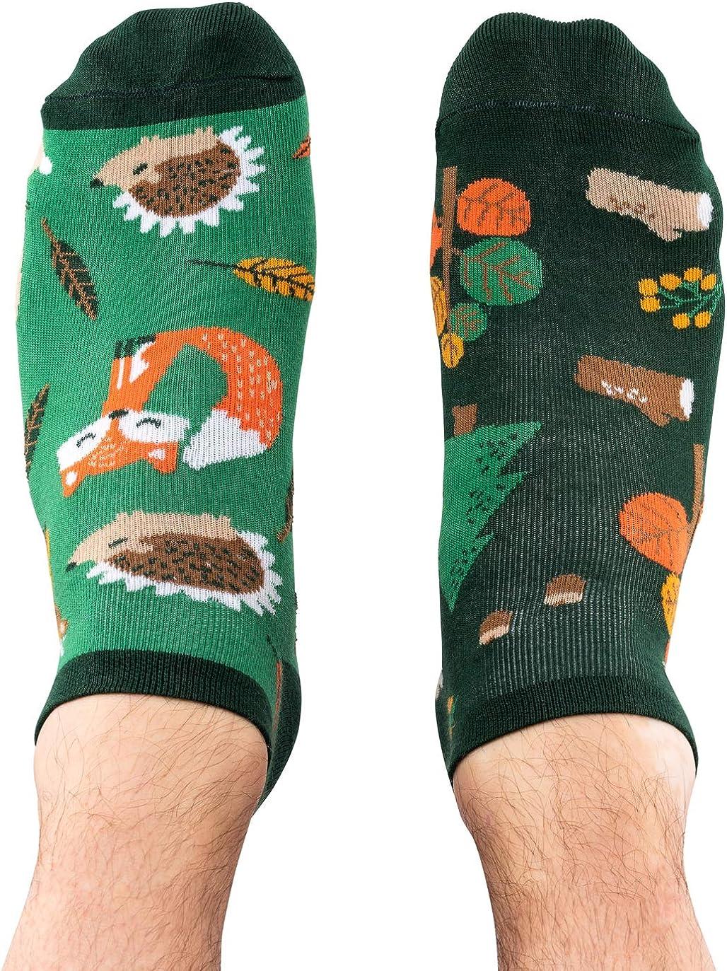 verr/ückte TODO COLOURS Lustige Motiv Sneaker Socken bunte Kn/öchelsocken Herre Damen mehrfarbige Forest Animals Low