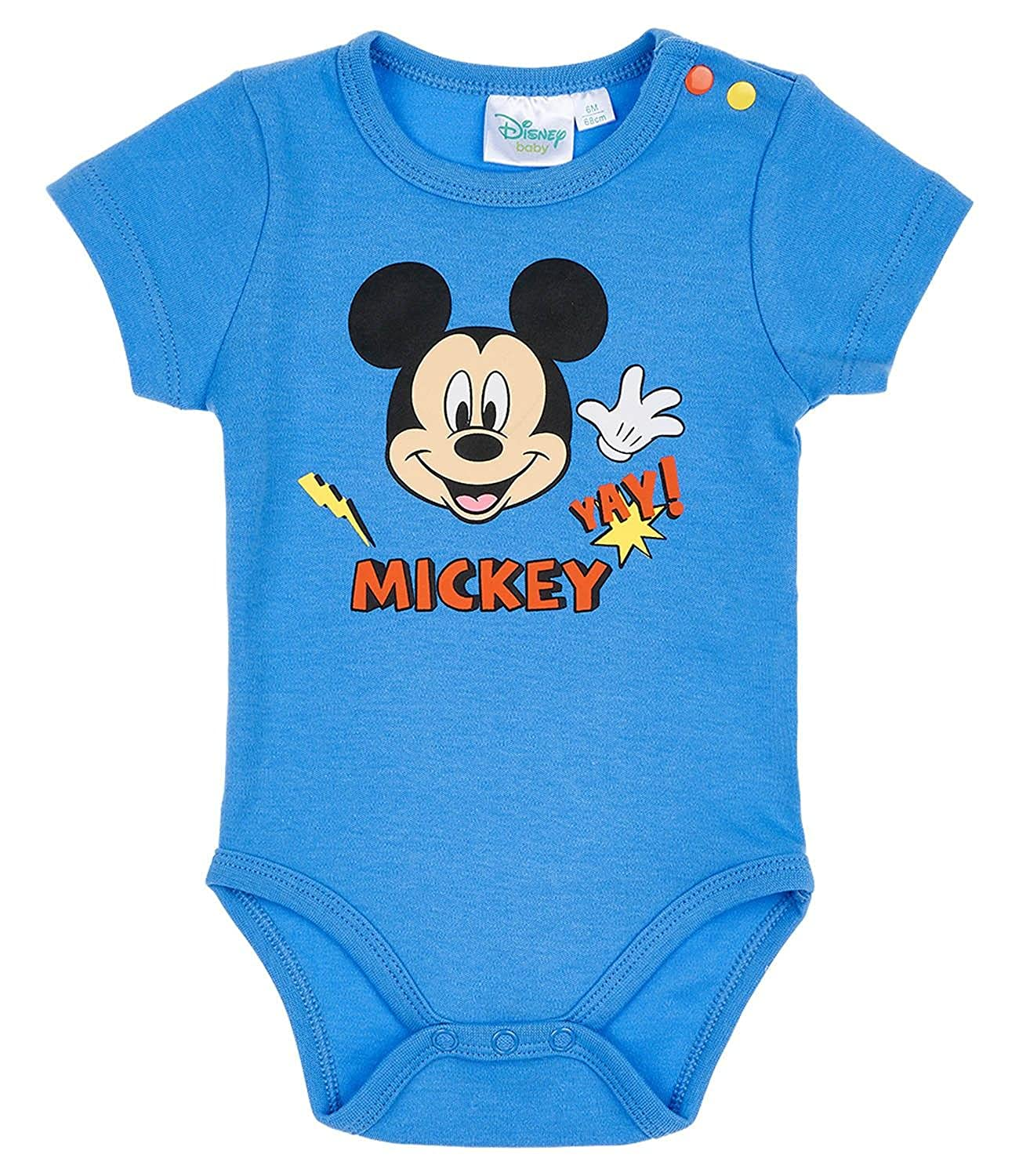 Disney Mickey Babies Boys Body neonato - blu