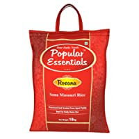 Popular Essentials Rozana Sona Masouri Raw Rice, 10kg