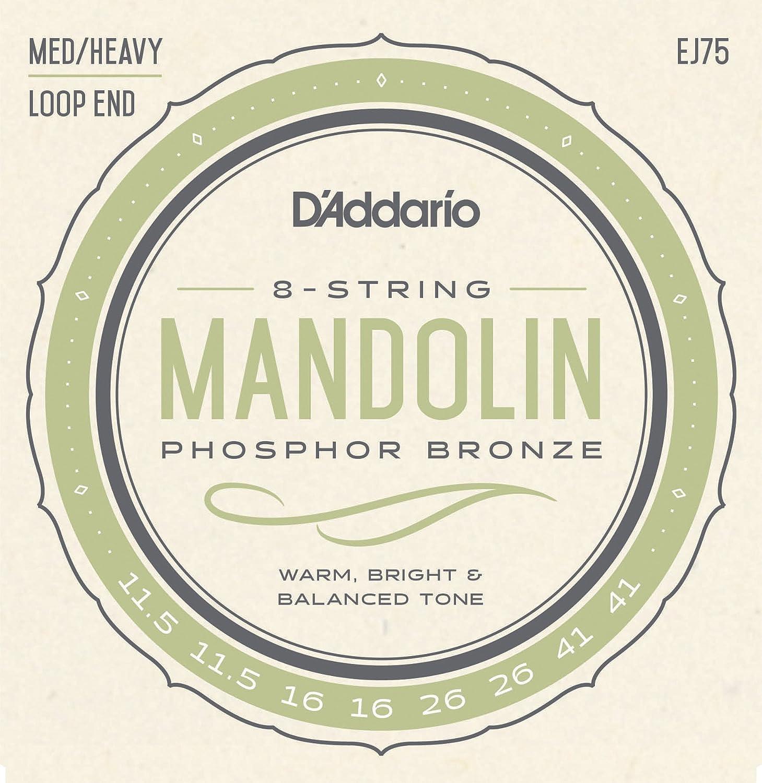 D'Addario EJ75 Phosphor Bronze Mandolin Strings, Medium/Heavy, 11.5-41 D'Addario