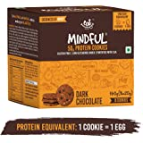 EAT Anytime Mindful Dark Chocolate Protein Cookies, Gluten Free, Pre Workout Whey Protein Snack, No Soy (Pack of 8) 160g
