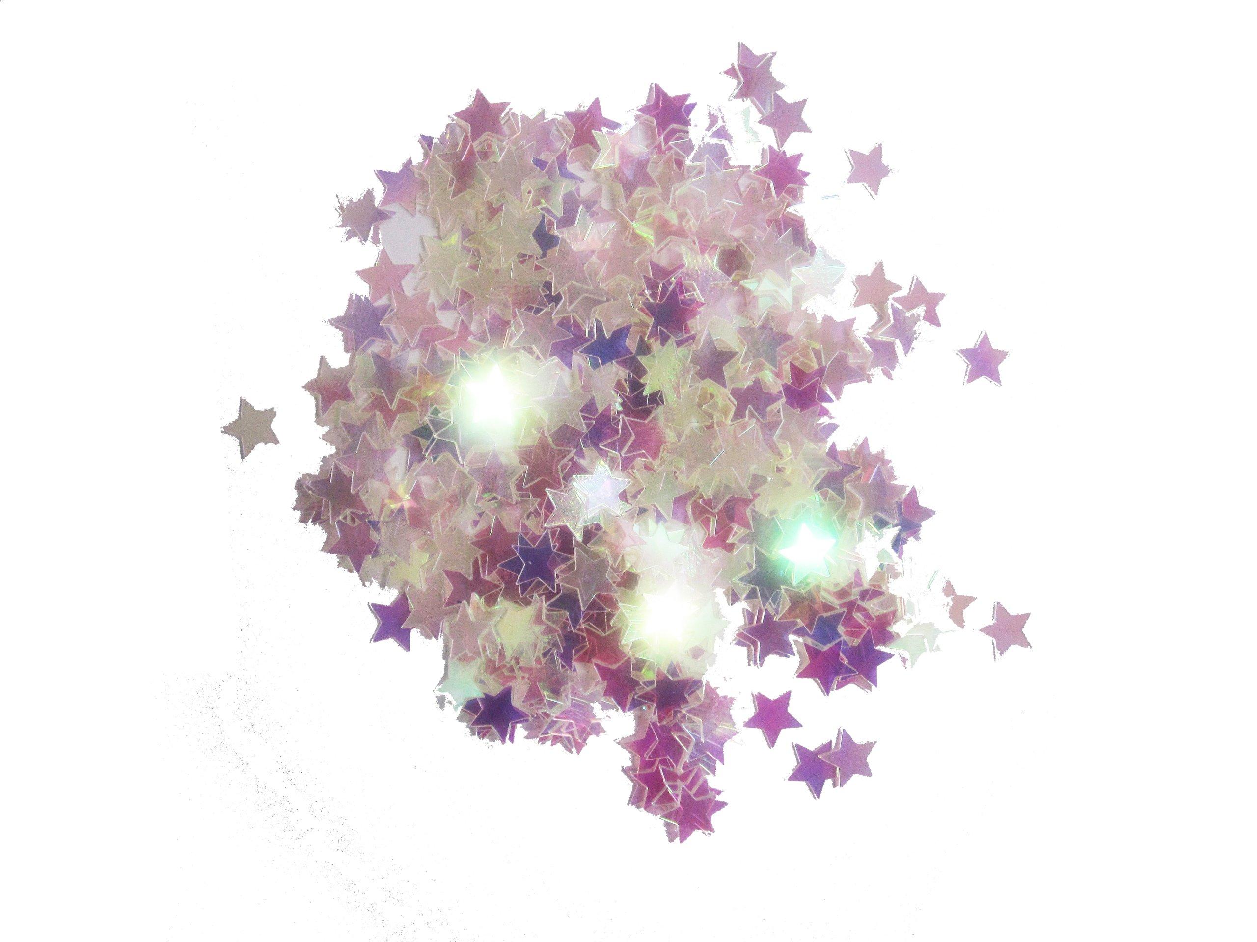 WGI Star Confetti 14 grams - Iridescent (6 packs)