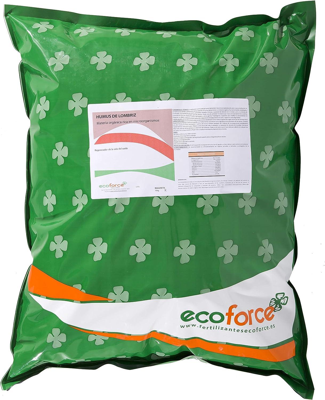 CULTIVERS Humus de Lombriz ecológico de 10 kg (20 L). Abono para Plantas indicado para Jardin. Precio Directo de fábrica!!