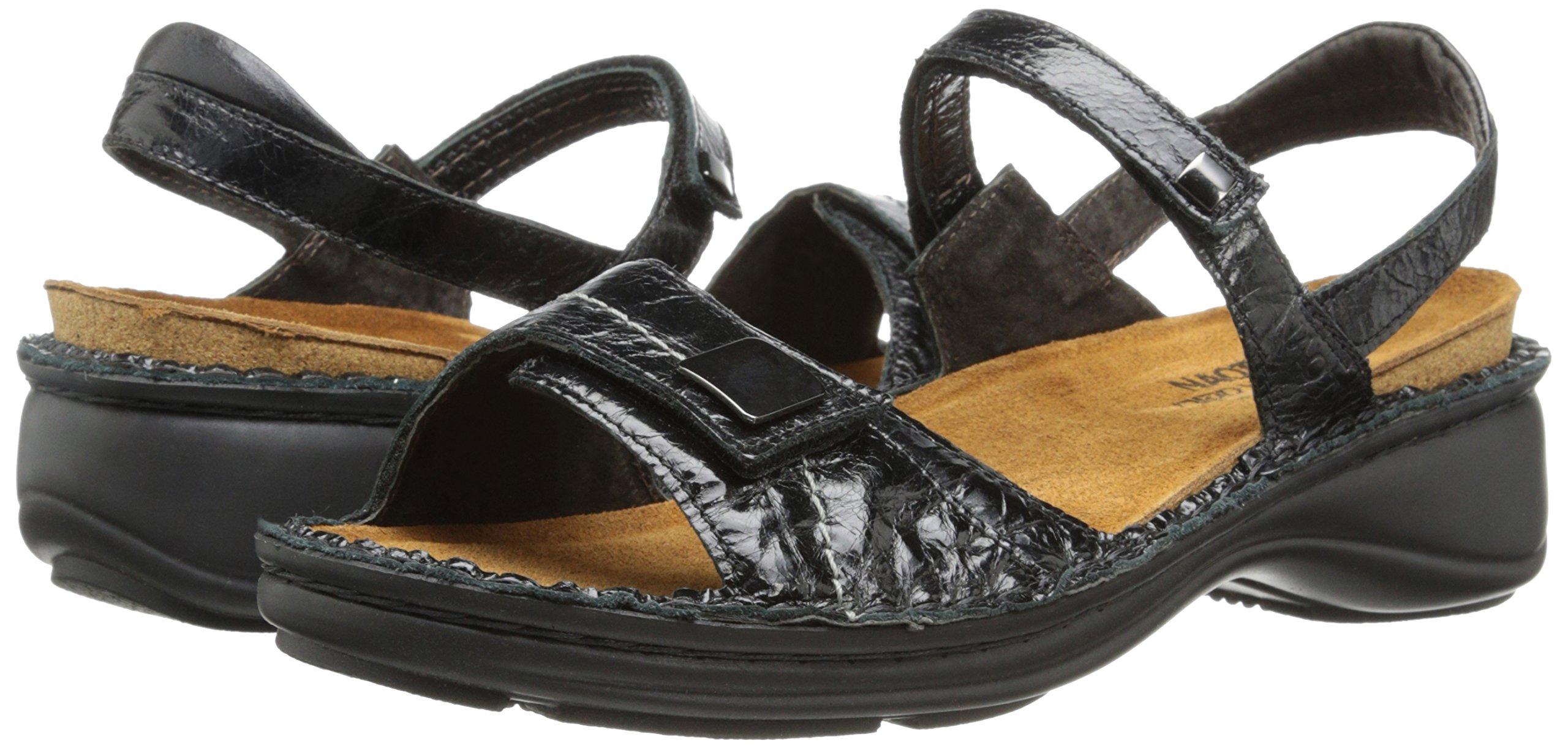 Naot Women's Papaya Flat,Black Madras Leather,40 EU/8.5-9 M US by NAOT (Image #6)