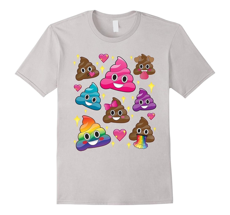 cute girl rainbow emoji poop t shirt bff gift or pj tee. Black Bedroom Furniture Sets. Home Design Ideas