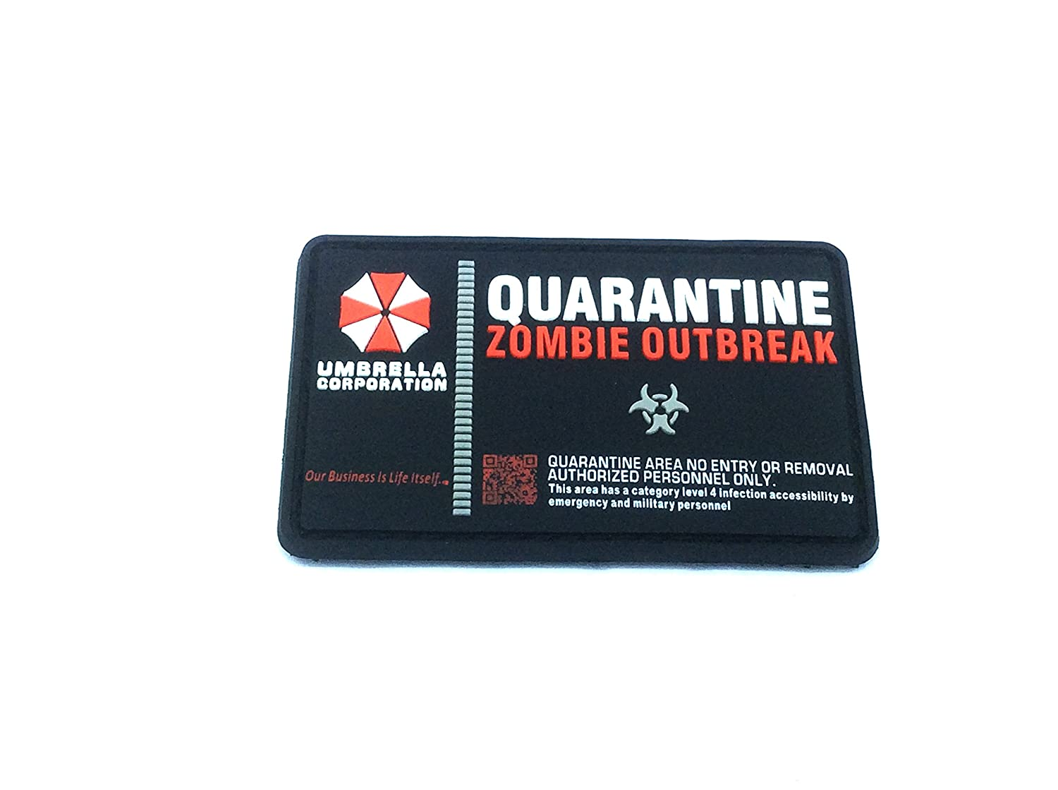 Paragüero corporación cuarentena Zombie Outbreak paintball Airsoft PVC Morale Patch Patch Nation