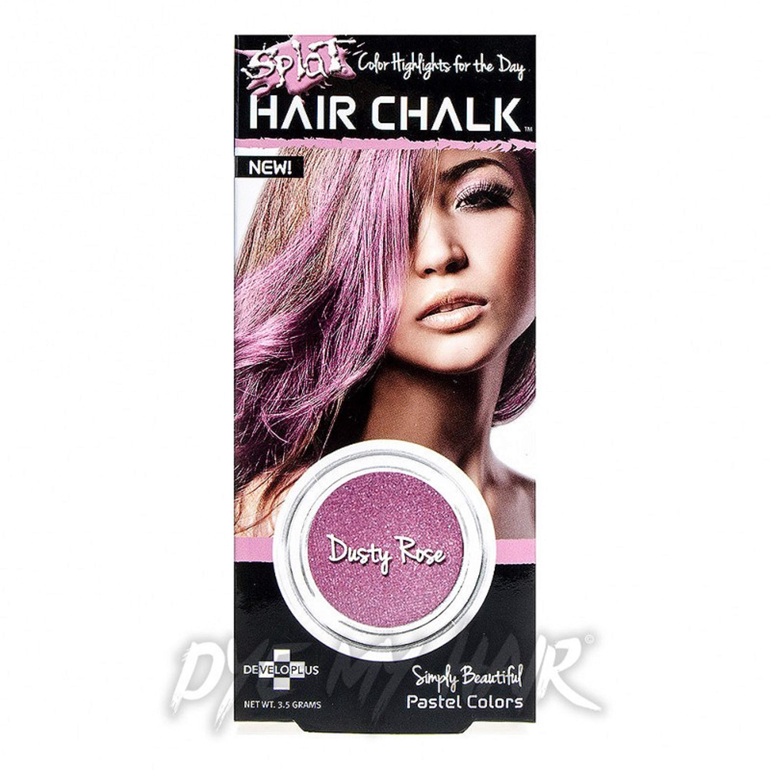 Splat Hair Chalk, Dusty Rose 3.50 grams (Pack of 4) by Splat