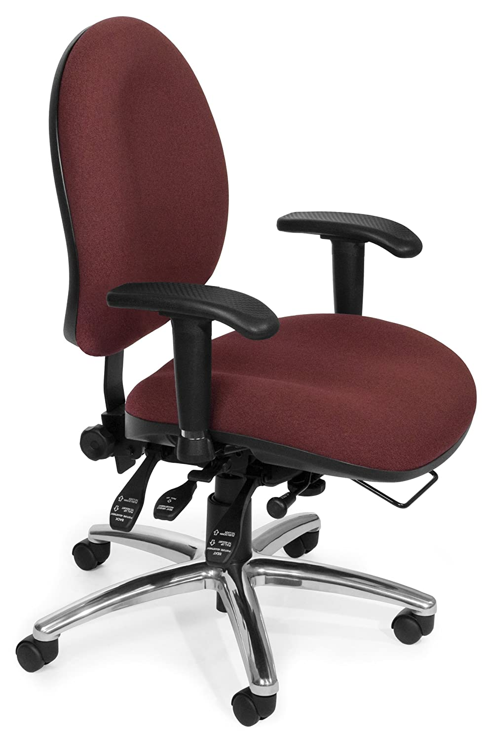 Amazoncom OFM Hour Ergonomic Upholstered Task Chair With Arms - Buy flash furniture kids car chair hr 10 red gg at beyond stores