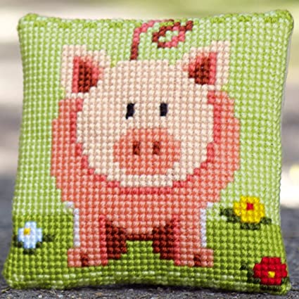 Amazon.com: Vervaco – Kit para cojín sweet little Piggy ...