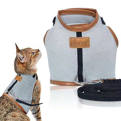 PiuPet® Arnes para gato Collar seguro y robusto (M)