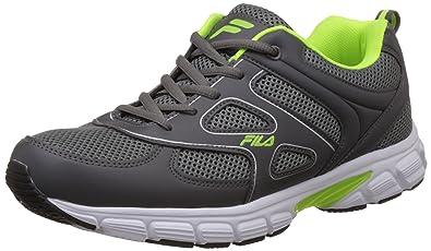 45a1b169915 Fila Men s Barrel Iii Grey and Green Running Shoes -11 UK India (45 ...