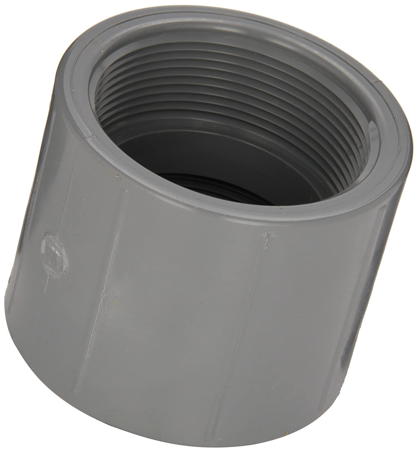 1-1//2 NPT Female Spears 830-C Series CPVC Pipe Fitting Schedule 80 Coupling