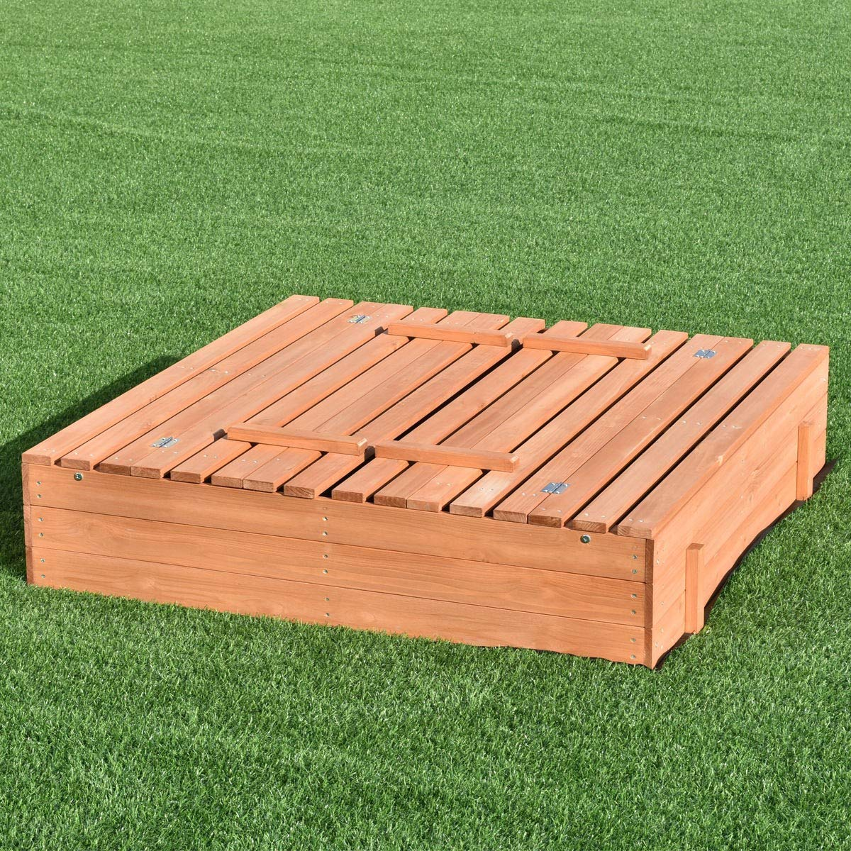 USA_BEST_SELLER Children Outdoor Foldable Retractable Sandbox Bench Seat Box by USA_BEST_SELLER (Image #2)