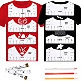 BIHRTC 8PCS T-Shirt Ruler Guide Alignment Tool PVC T Shirt Ruler to Center Designs for Vinyl Placement Heat Press with 3PCS S