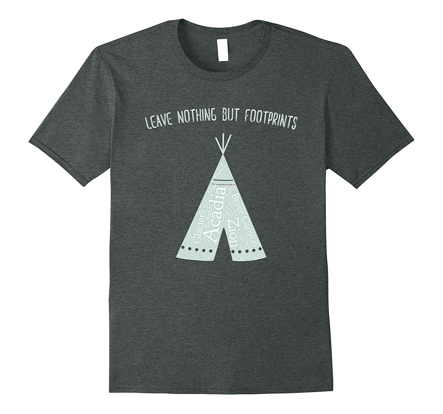 All 59 US National Parks Leave Nothing But Footprints Tee