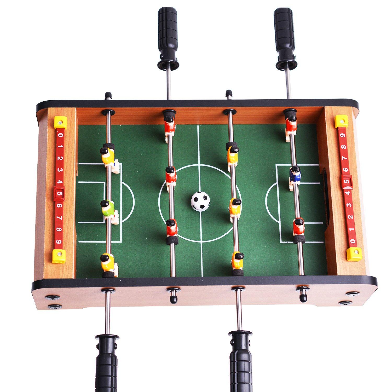 Mini Table de Football MDF Durable En Intérieur et à L'Extérieur Jeu 36, 5 cm x 21, 5 cm x 9cm Intéressant pour les Cadeaux de Fête et D'Anniversaire WINMAX