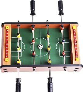 WIN.MAX Juego de Mesa de fútbol Futbolin Foosball Juego de Tablero de MDF Tablero de Mini Tamaño 12 Jugadores (1): Amazon.es: Juguetes y juegos