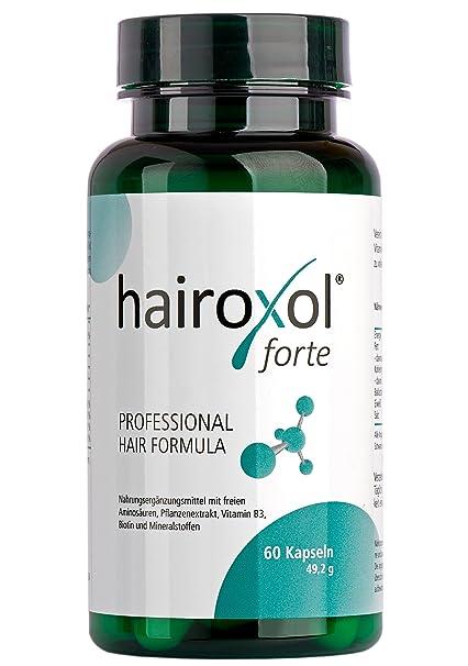 HAIROXOL-Cápsulas tratamiento anti-caída de cabello | Bitoina, Zinc, vitaminas,