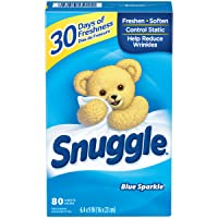 Deals on Snuggle Fabric Softener Dryer Sheets, Blue Sparkle, 80 Count