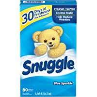 Snuggle 80 Count Fabric Softener Blue Sparkle Dryer Sheets