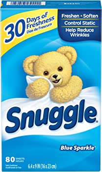 80-Count Snuggle Fabric Softener Blue Sparkle Dryer Sheets