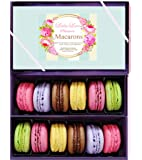Leilalove Macarons 12 French Macaron - Baked to order Gift to remember - cookies warped individually to prevent breakage