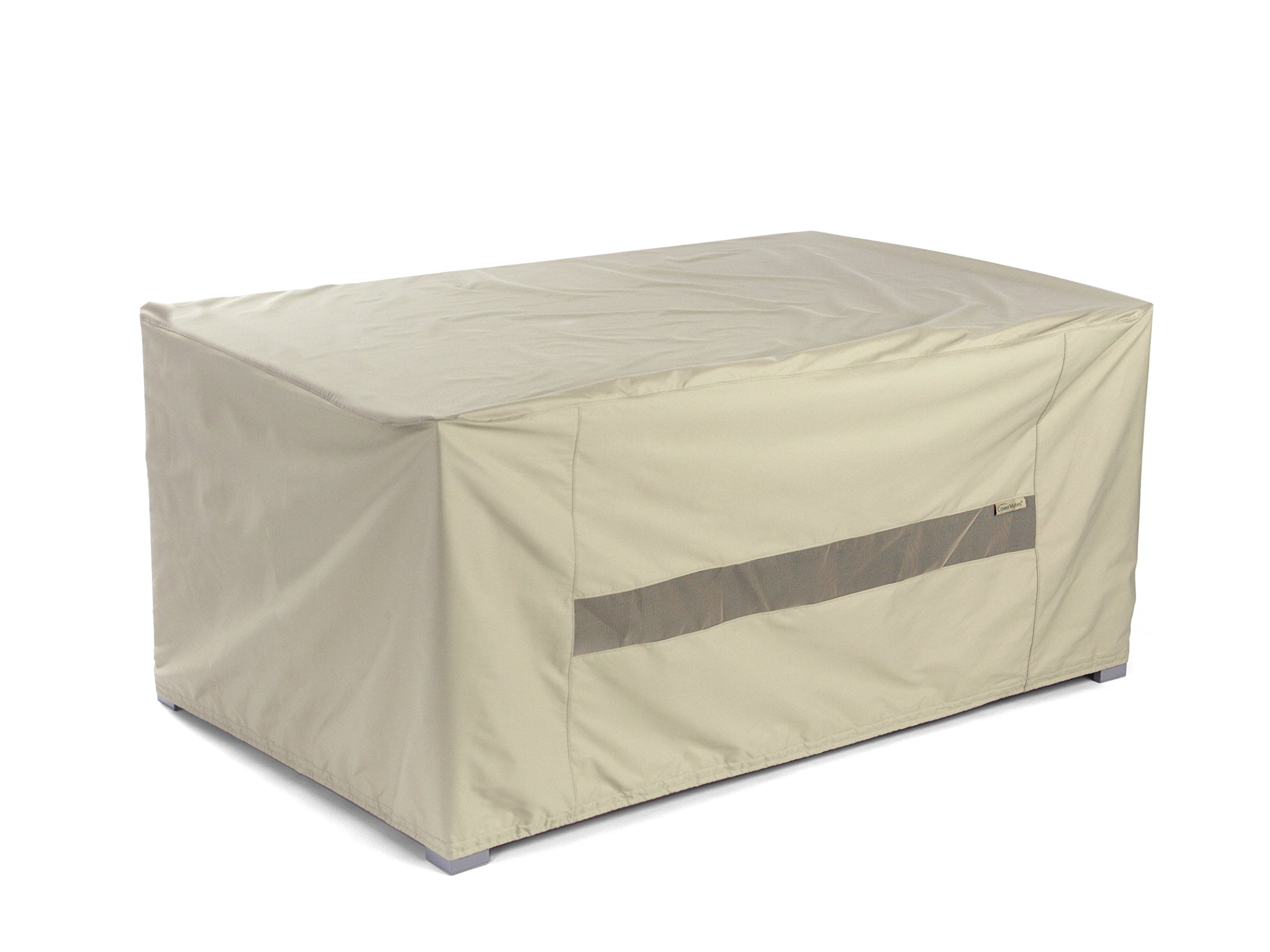 Covermates – Rectangular Dining Table Cover – 96W x 42D x 25H – Elite Collection – 3 YR Warranty – Year Around Protection - Khaki