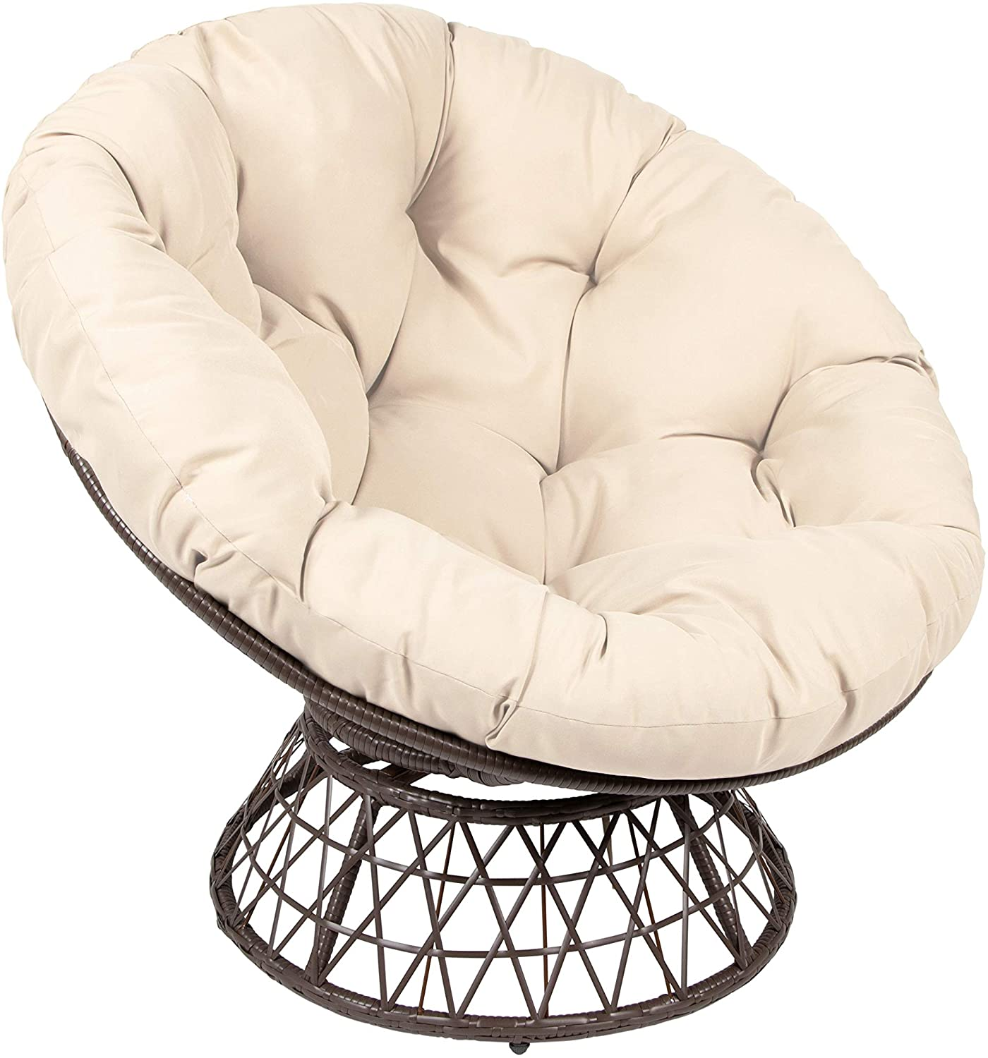 Shop Amazon.com: Milliard Papasan Chair with 360-degree Swivel (Brown and Beige): Kitchen & Dining from Amazon on Openhaus
