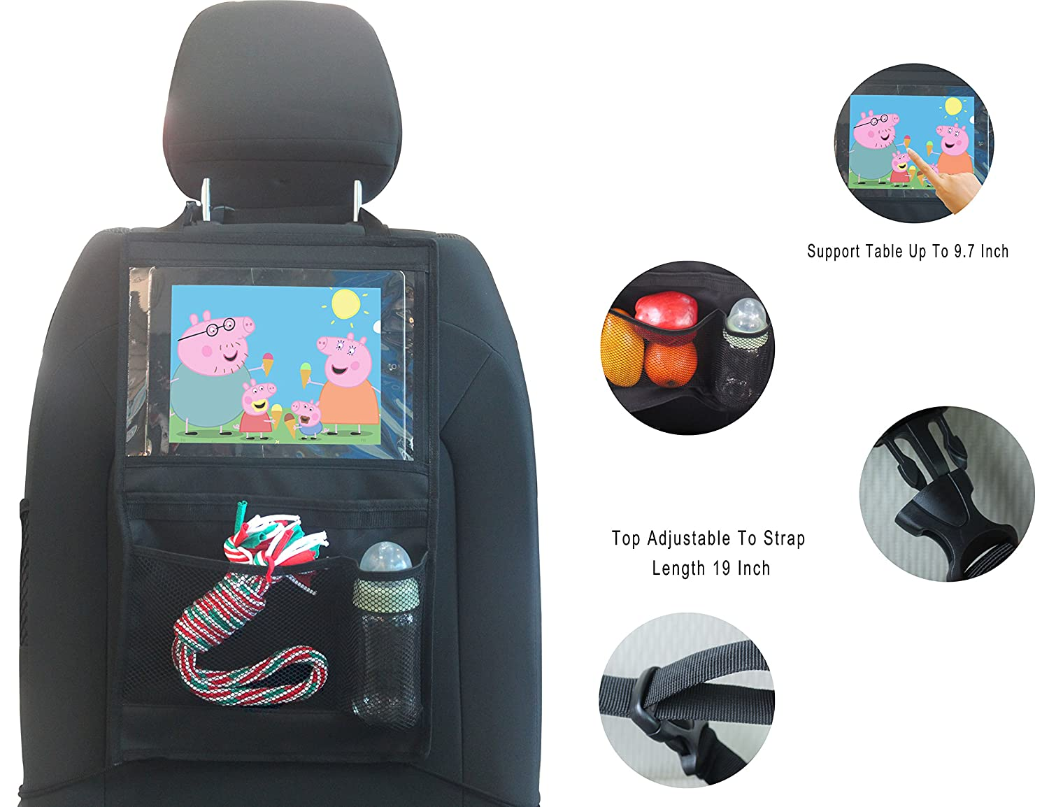 Durapower Backseat Car Organizer Kids Toy Storage & Baby Travel Accessories & Back Seat Protector/Kick Mat Luckibuy Imp&Exp Co. ltd.