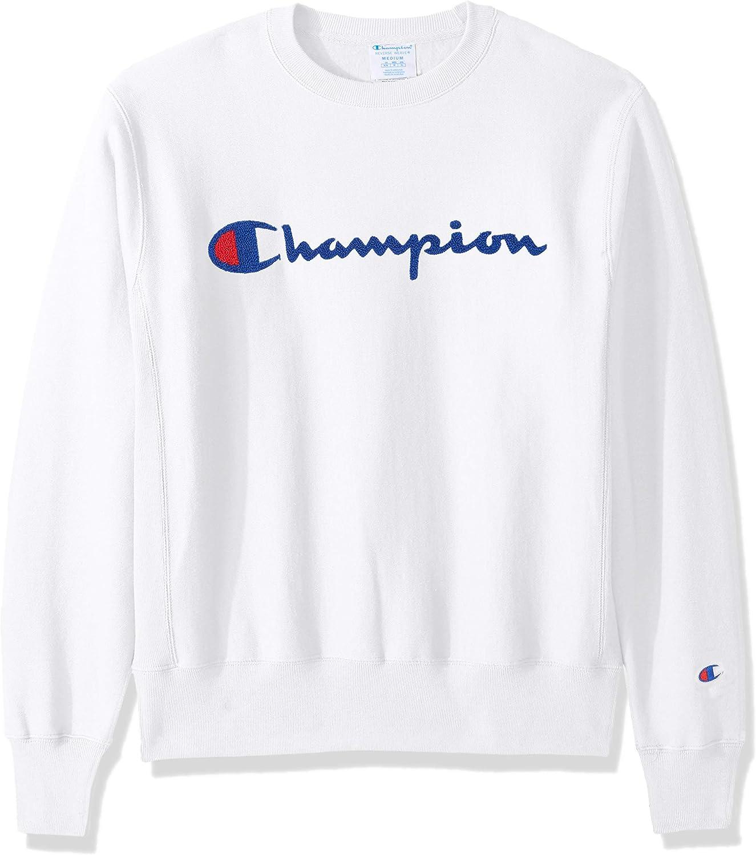 Champion Reverse Weave Sweatshirt Pullover Hoodie Life Men Script Chenille Logo