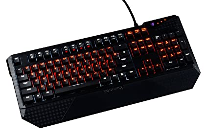 46711a174af Tesoro Durandal Ultimate G1NL eSport Edition Black + Red Cherry MX Switch  USB Hub Dual LED