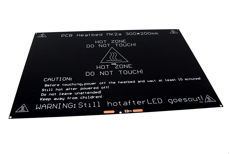 300 x 200 mm aluminio PCB Heatbed MK2 A caliente Reprap 3d ...
