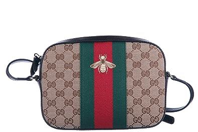 a5e8ae160e2b7 Gucci women s shoulder bag original gg supreme bee beige  Amazon.co ...