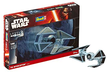 Revell- Star Wars Tie Interceptor. Kit modele, Escala 1:90 (03603)