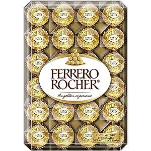 Ferrero Rocher Fine Hazelnut Chocolates, 48 Count Flat, 21.2 Oz