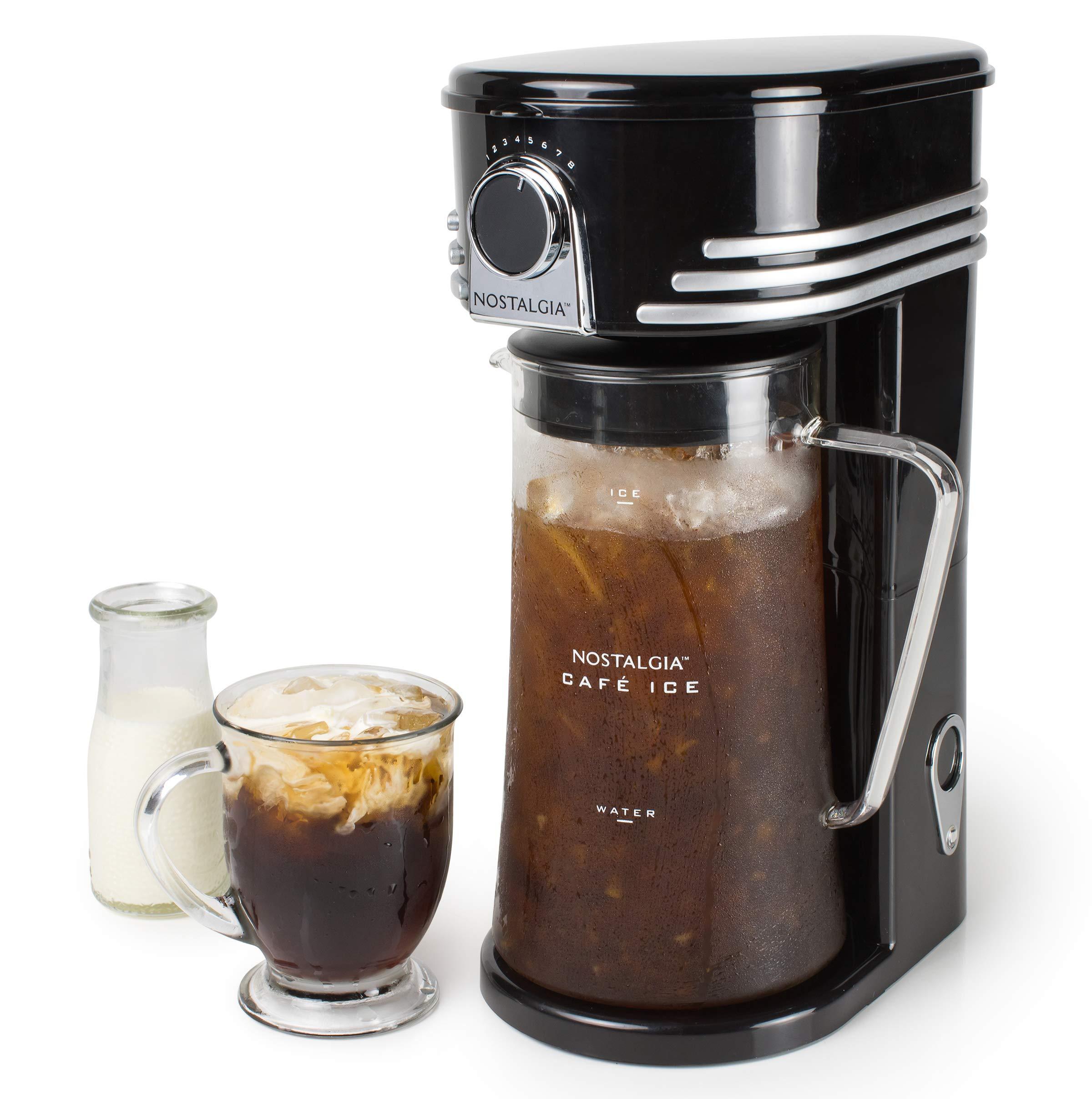 Nostalgia CI3BK Iced Coffee Maker and Tea Brewing System, Glass Pitcher, 3 quart Black by Nostalgia (Image #4)