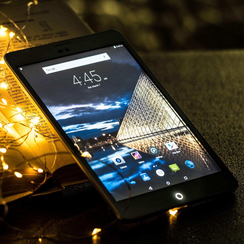 Tablette Tactile 4G/LTE SIM Carte - Winnovo M798 7.85 pouces Débloquée Quad-Core Android Téléphone Tablette 16GB de Stockage + 1GB de RAM Résolution de 1024x768 IPS Double Camera Batterie de 3600mAh WIFI Bluetooth GPS (Argent)