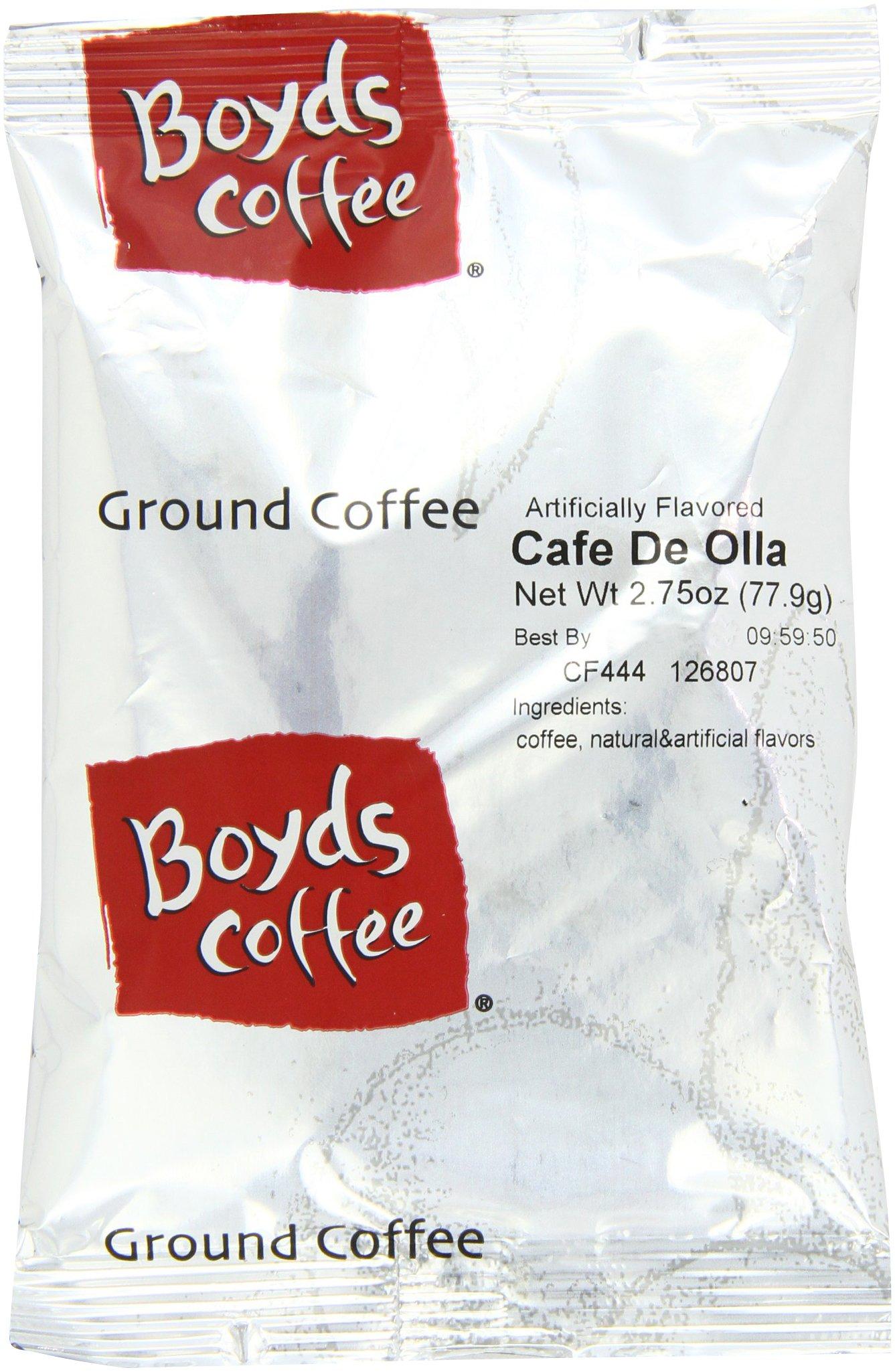 Boyd's Coffee Caf? de Ollaa Flavored Ground Medium Roast Coffee, 2.75-Ounce Portion Packs (Pack of 46)