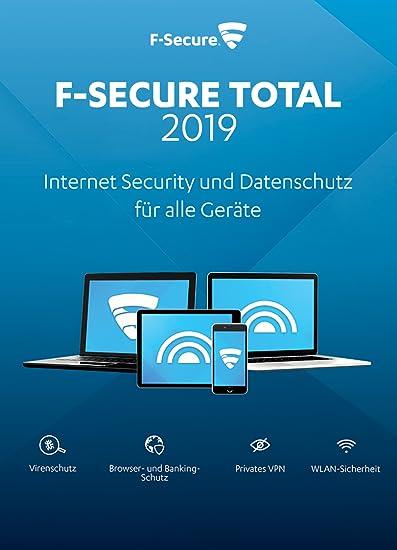 F Secure Total Security Und Vpn 2019 2 Jahre 5 Gerate Fur Multi