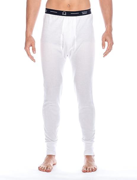Frío Extremo Pantalón Térmico para Hombre de Waffle Knit - Blanco -M