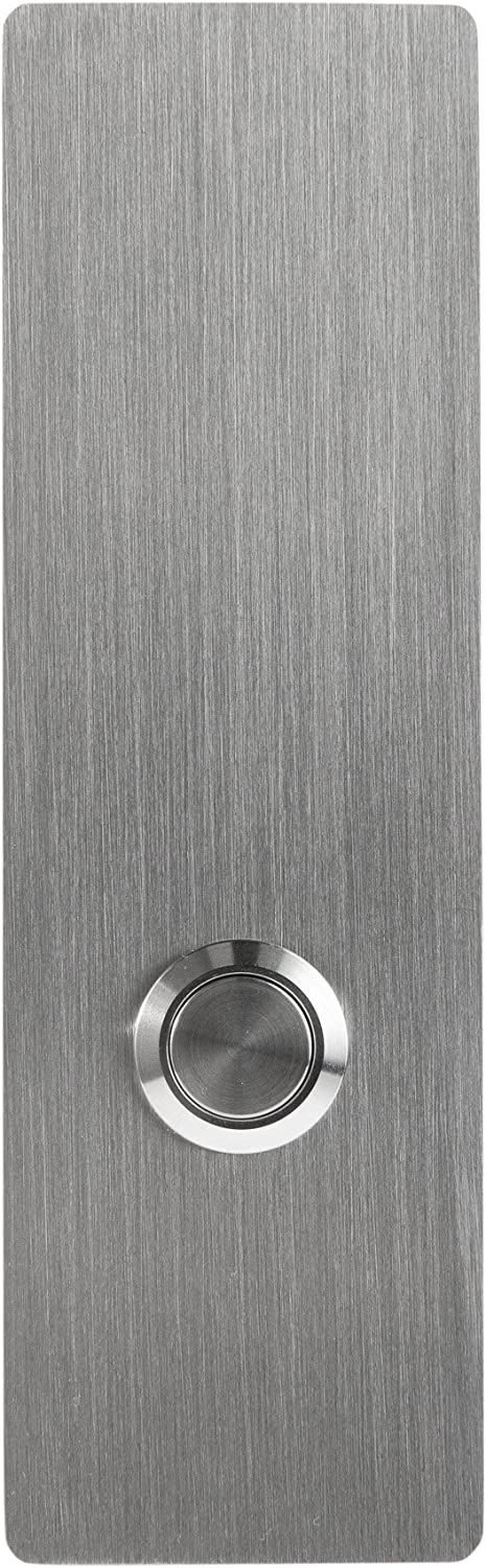 """MSH Modern Stainless Hardware Model R1 Stainless Steel Doorbell Button in 304 Stainless Steel 1.57"""" x 5.11"""" x 5/32"""" (4mm thick)"""