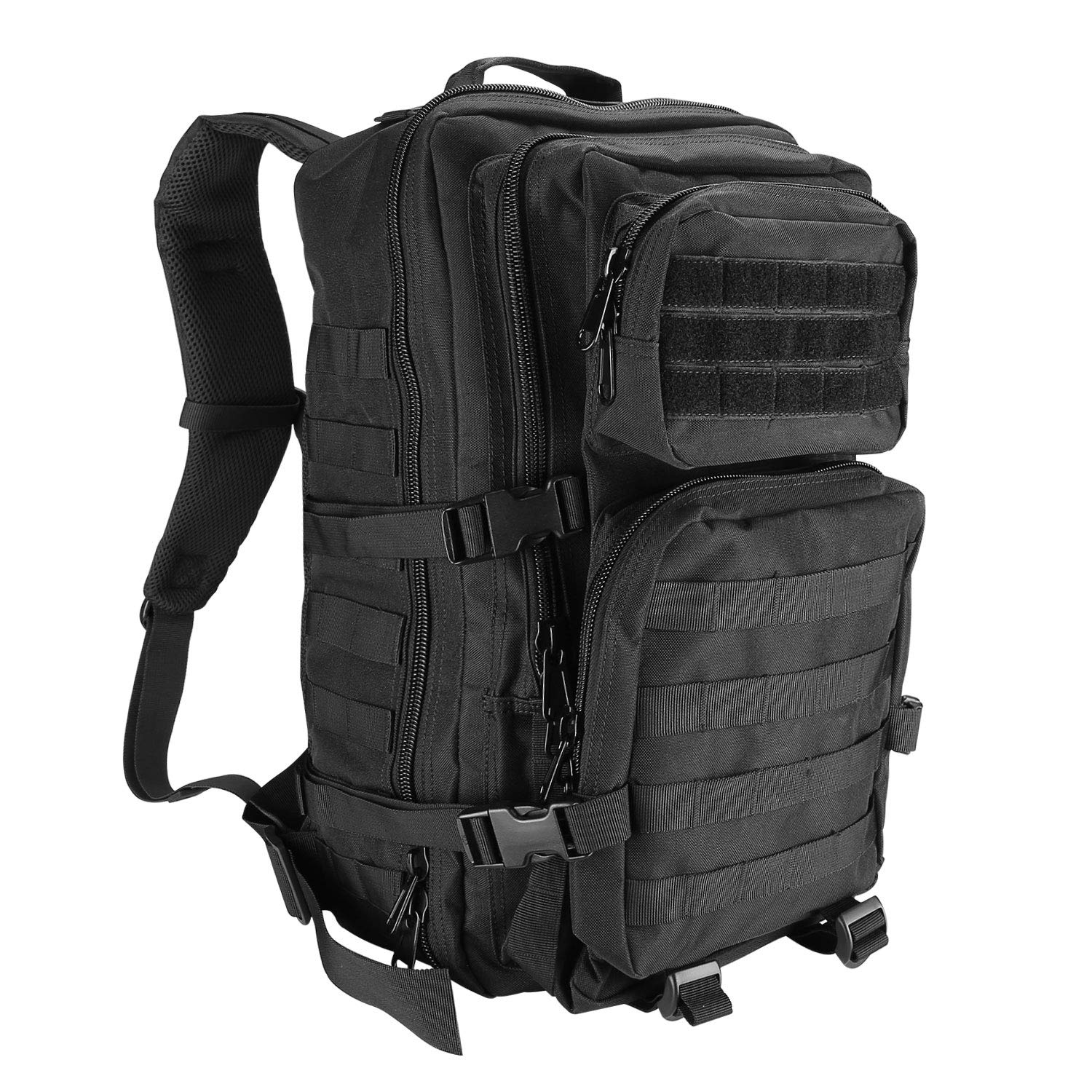 ProCase Tactical Backpack Bag 40L Large Capacity 3 Day Military Army Assault Pack Carry Bag Backpacks Rucksacks for Hunting Trekking Camping Outdoor Activities -Black