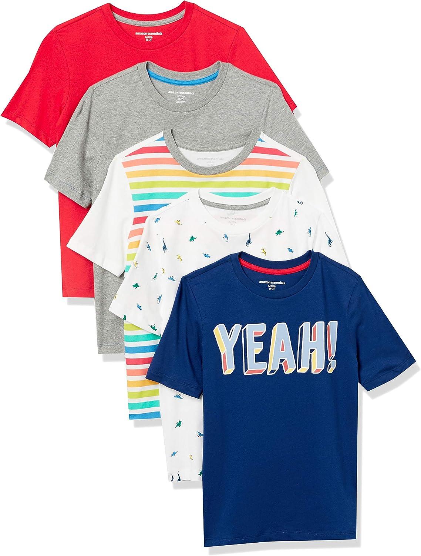 Amazon Essentials Boys Short-Sleeve T-Shirts