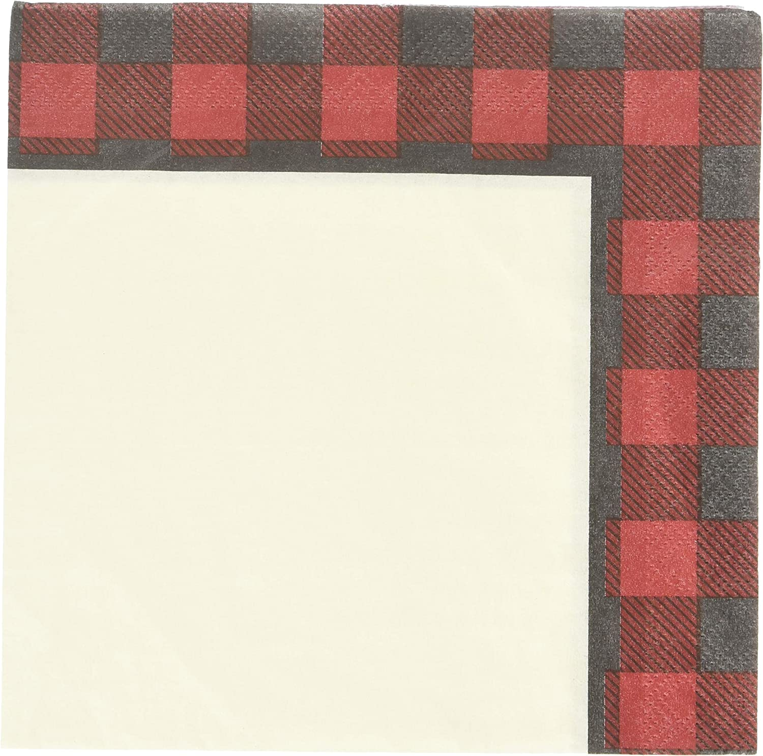 Creative Converting 54 Count Lunch Napkins Black and White Check