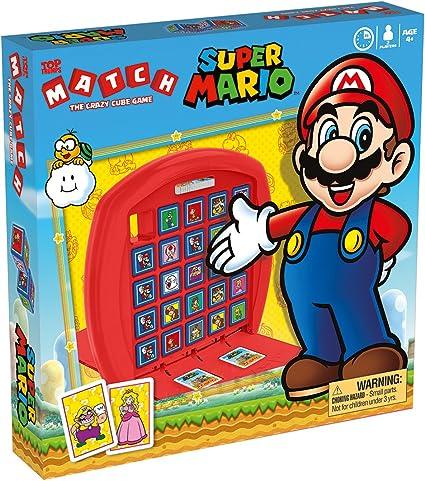 Parte Superior Trumps Super Mario Match Juego De Mesa Color Azul Mx Juegos Y Juguetes