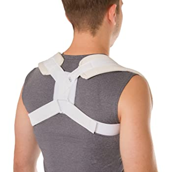 BraceAbility Figure 8 Clavicle Brace U0026 Posture Corrector | Broken  Collarbone Sling For Injuries U0026 Fractures, Shoulder Support Strap For Upper  Back ...